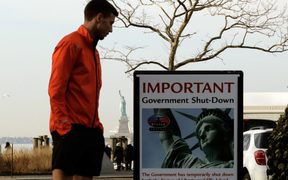 The Statue of Liberty is among landmarks that are closed as part of the US government shutdown