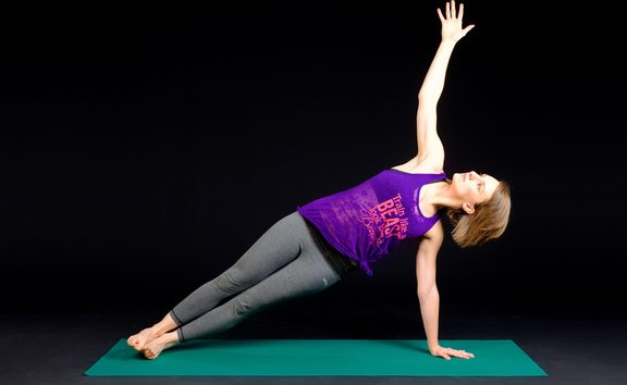 side plank woman yoga
