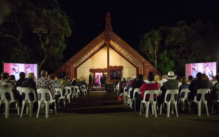 The Dawn Service taking place on the  Upper Marae at Waitangi. 6 February 2017.
