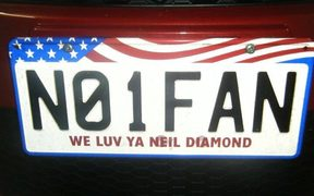 Dianne Raynes' Neil Diamond number plate.