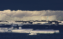 The large Totten Glacier drains a major portion of the East Antarctic Ice Sheet