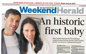 How the Weekend Herald marked the big news from the day before.