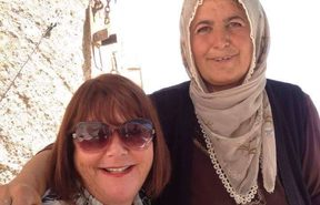 Ruth Lockwood with a Turkish villager