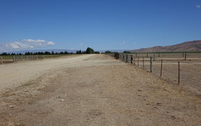 Dry farmland in Central Otago.