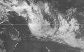A satellite image of cyclone Fehi the first of the 2017/2018 season for the South Pacific.