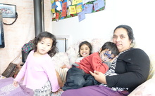 Mr Teitiota's wife, Angua Erika and their three children.