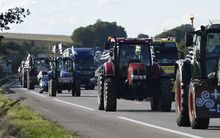 French farmers head to Paris in protest.