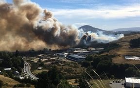 The fire in Burnside, Dunedin.