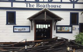 The Boathouse on Nelson's waterfront.