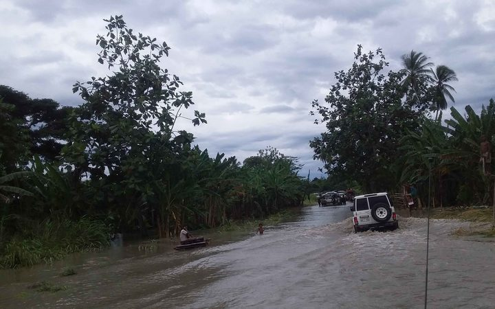 Flooding in Papua New Guinea's southern region.