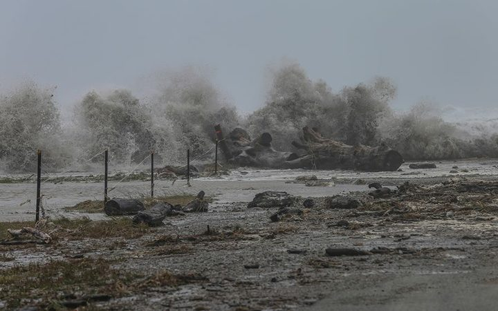 Destruction from storm Fehi on the West Coast.