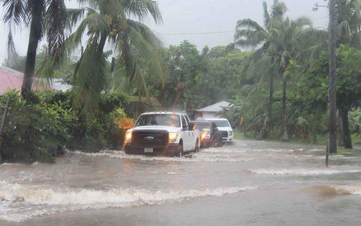 Homes evacuated amid flooding in American Samoa