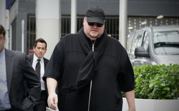 Kim Dotcom arrives at court for his extradition hearing
