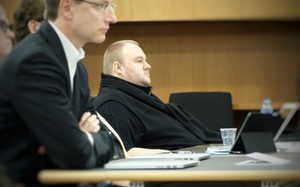 Kim Dotcom at his extradition hearing