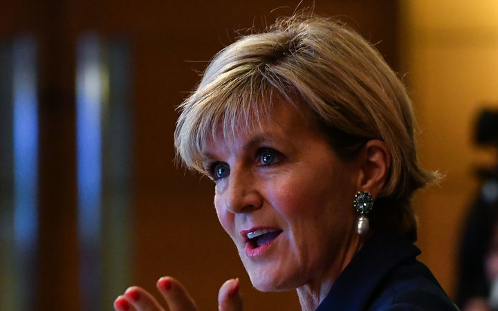 Bishop 'moved on' from spat with NZ Labour