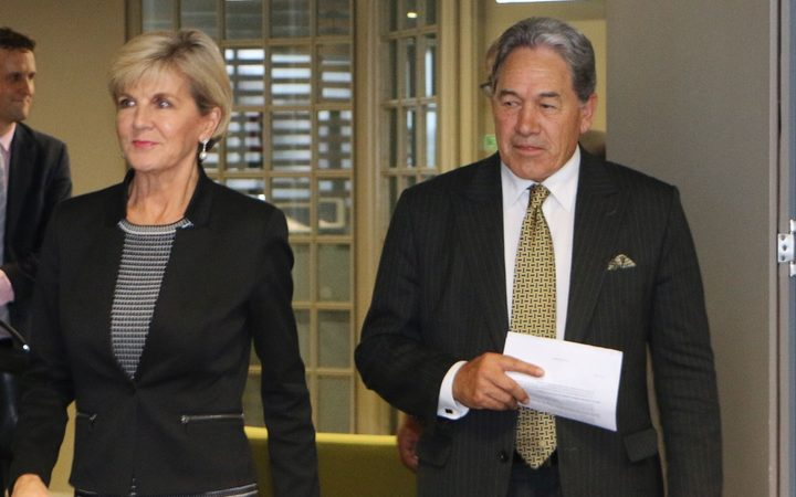 Winston Peters and Julie Bishop talk foreign policy on Waiheke Island