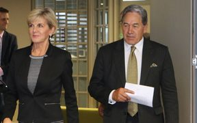 Australian Foreign Minister Julie Bishop and New Zealand Foreign Minister Winston Peters.