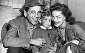 Stephen Bogart with his parents, Humphrey Bogart and Lauren Bacall