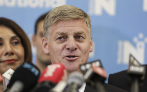 Bill English steps down as National Party leader.