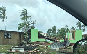 Damage from Cyclone Gita in American Samoa.