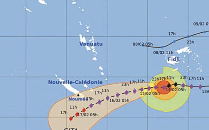 Cyclone Gita heading towards New Caledonia
