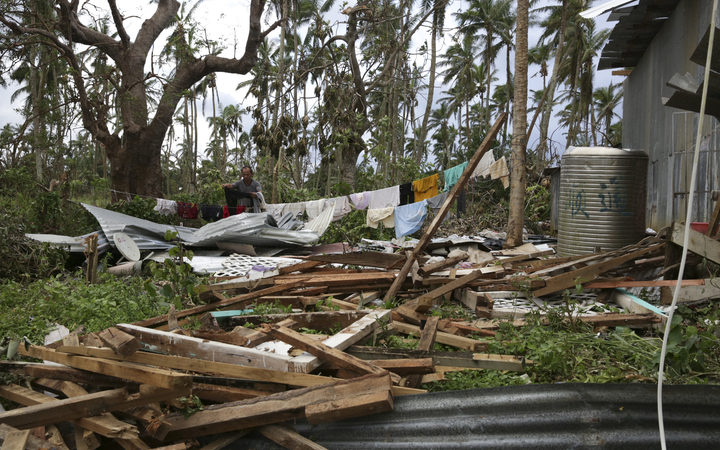 The destruction left in the wake of Tropical Cyclone Gita.