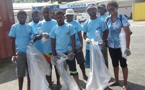 Clean up team outside Cellovila