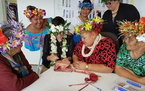 "Karen Walker and Cook Islands ""mamas"" collaborating on a gown to be revealed at Buckingham Palace"