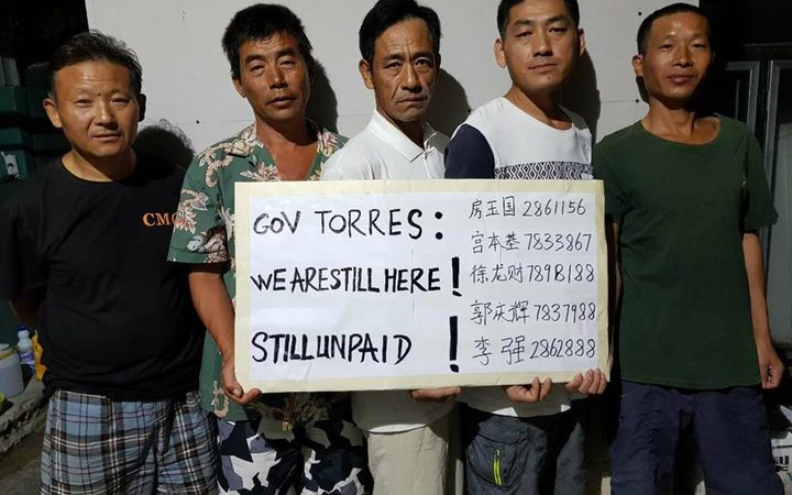 Unpaid Chinese workers in CNMI