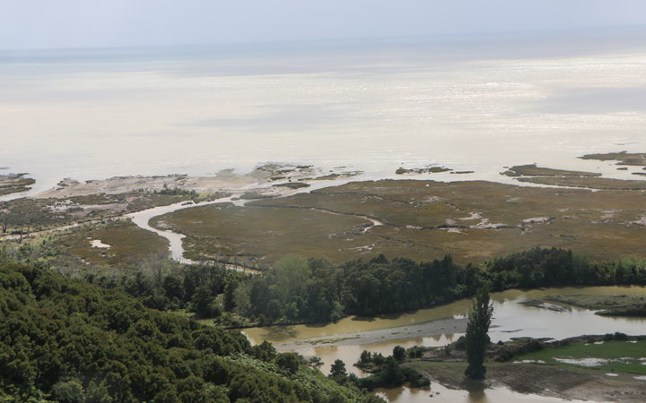 Flooding in the Takaka valley.
