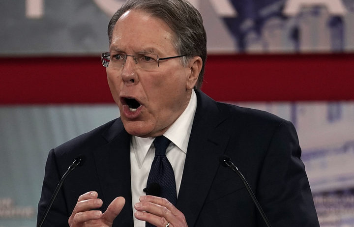 NRA vice president Wayne LaPierre speaks during CPAC 2018 in National Harbor, Maryland.