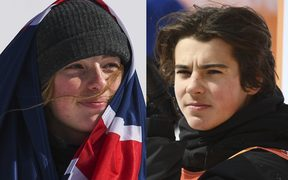 Winter Olympic bronze medallists Sadowski-Synnott and Nico Porteous.