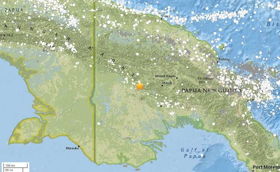 An earthquake of magnitude 7-point- 5 has struck Papua New Guinea' Southern Highlands province at 35 kilometres deep at around 4AM local time on 26 February 2018, according to the US Geological Survey.