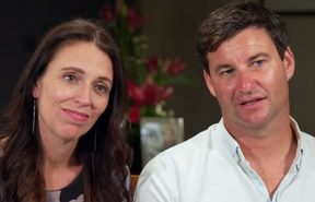 Jacinda Ardern and Clarke Gayford on 60 minutes.