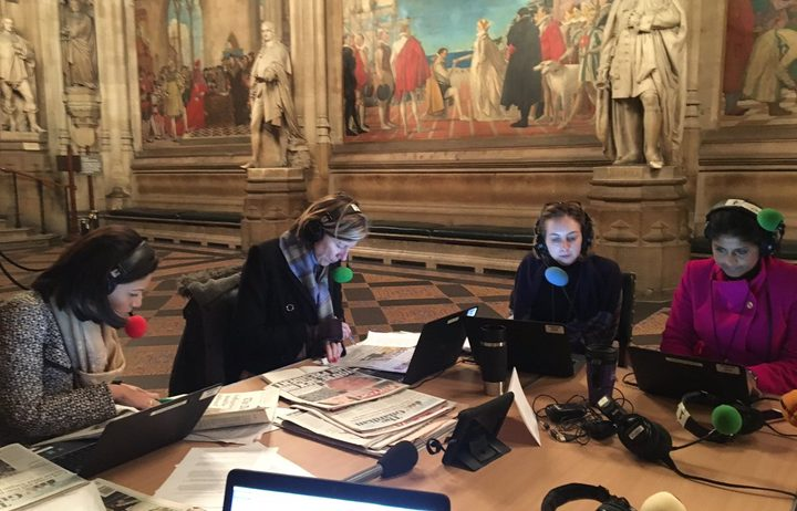 The BBC's all-female broadcast from the UK House Oof Commons to commemorate 100 years of the right to vote.