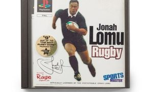 Johan Lomu Rugby PlayStation video game, 1997. Te Papa Collection