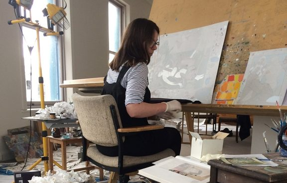 Kushana Bush in her studio