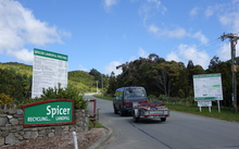The entrance to Spicer Landfill, behind Tawa in Wellington's northern suburbs.