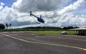 Helicopter in Fiji search