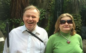 Johnathan Mosen and his wife Bonnie, who is also blind.