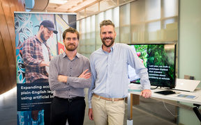Geoffrey Roberts and Matthew Bartlett, the executive directors of a new initiative called Citizen AI, that Community Law Wellington is setting up to develop artificial intelligence projects for the public good.