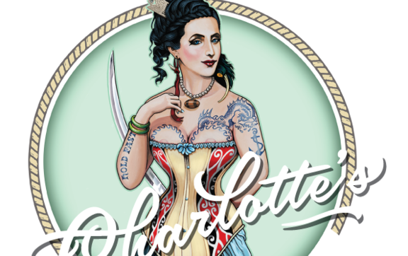"The logo for Charlotte's Kitchen by artist Lester Hall depicts her as a beautiful woman wearing the signs of Rangatira. These are at odds with the only contemporary description of her as ""thick lipped and very corpulent""."