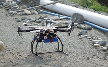 Fulton Hogan has started using a six-bladed hexicopter drone to survey North Otago's eroding coastline.