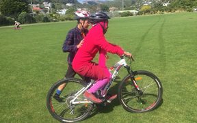Teaching refugee women to cycle