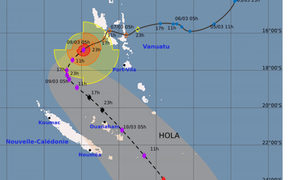 Cyclone Hola heads towards New Caledonia