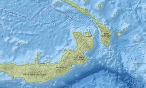 A magnitude 7.1 earthquake struck 130 km to the east of Rabaul at a depth of 10 km around 3:40am local time, 9 March.