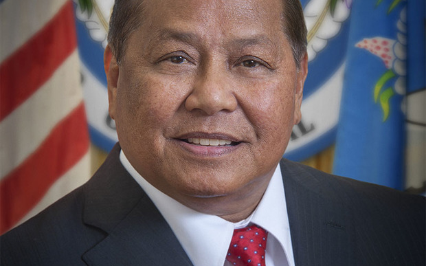 The Governor of the Northern Marianas, Eloy Inos.