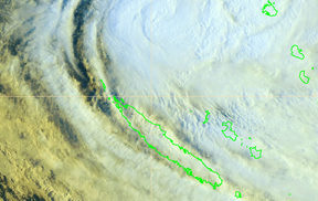 Cyclone Hola near the Loyalty Islands
