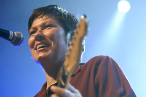 Kim Deal on stage at ATP 2009