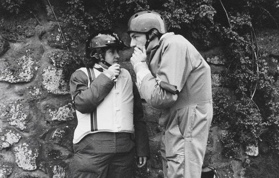 '81 Tour protest leaders Gaylene Jackson and John Minto confer. Auckland, September 12, 1981